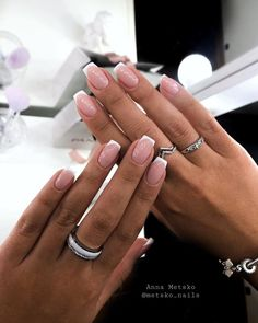 Pink Gel Nails, Glam Nails, Best Acrylic Nails, Nail Manicure, Stylish Nails, Trendy Nails, Pointed Nails, Fire Nails, Minimalist Nails