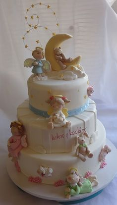 Cupcakes decorados bautizo Ideas for 2019 Pretty Cakes, Beautiful Cakes, Amazing Cakes, Cute Cakes, Fondant Cakes, Cupcake Cakes, Bolo Artificial, Dessert, Communion Cakes
