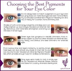 Ever wonder what color works best with your eye color? Younique can help!  Www.YouniqueProducts.com/LorianneTaff