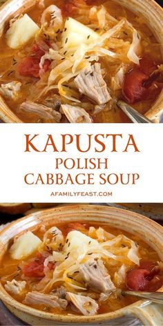 Cabbage Stew, Pork And Cabbage, Cabbage Soup Recipes, Cabbage Soup Diet, Potato Recipes, Polish Soup, Slovak Recipes, Ukrainian Recipes, Eastern European Recipes