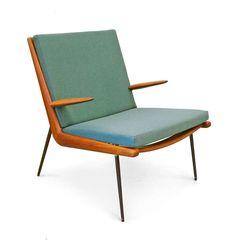 "FD 134 ""Boomerang chair"" by Peter Hvidt & Orla Mølgaard Nielsen image 8"