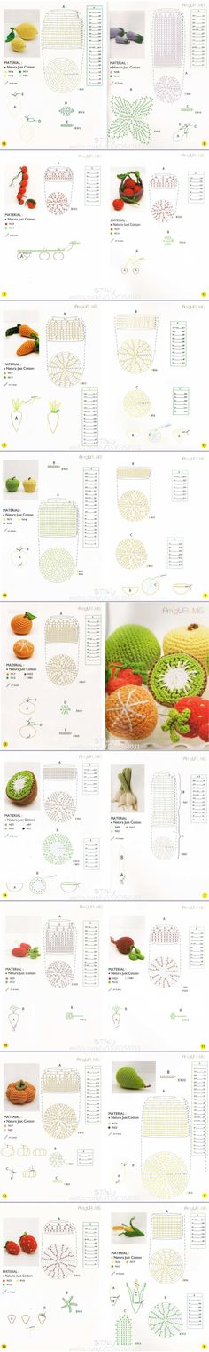 Amigurumi Fruits & Vegetables - Chart