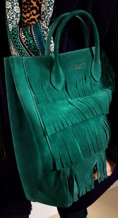 The Carryall in Fringe Detail Suede: One of my favourite runway accessories from the Prorsum Menswear A/W15 show