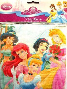 Disney Princess 2 Party Napkins - 16 Pack