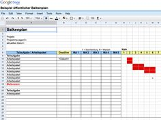 balkenplan_google_docs Projekt Manager, Google Docs, Planer, Periodic Table, Ms, Fraction Activities, Projects, Periotic Table