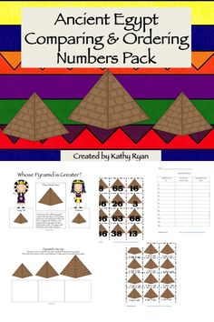 These 3 hands-on activities help students build their number sense and place value skills.     Pyramid Match Up--Students must match a number, its expanded form, and its expanded word form.    Pyramid Line Up--Students must order three numbers from greatest to least.    Whose Pyramid is Greater--Students must decide which of two numbers is greater.