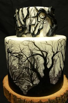 Haunted Forest cake by My Sweet Cosette #evitegatherings