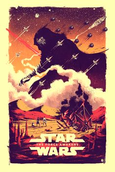 The Force Awakens by Marie Bergeron / Tumblr / Store24″ X 36″ 5 color screen print, S/N edition of 75. Available to pre order HERE.
