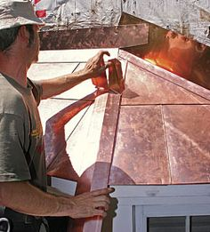 A flat-seam copper roof for a bay window - Fine Homebuilding Article