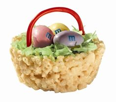 """Easter Basket Treats™   Your kids will love filling these teeny, tiny Easter baskets with green coconut """"grass"""" and chocolatey """"eggs."""""""
