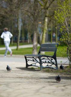 Garden Bench with birds  Anouk Vogel