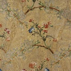 French Lyon, Cloth of Gold, ca. 1750-1769, Silk & metallic thread ribbed weave.