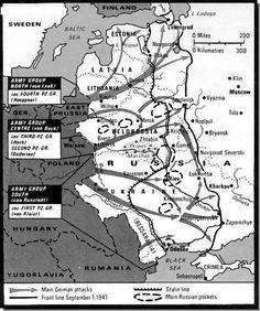 Operation Barbarossa: Nazi Invasion of the USSR June 22 - September 1, 1941 maps