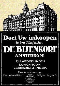 Doet Uw inkoopen in het Magazijn De Bijenkorf Amsterdam (60 afdeelingen, Groote sortering, Billijke prijzen!)