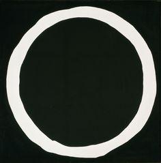 white circle in black - jiro yoshihara