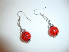 Basketball Earrings by CrystalsbyGail on Etsy, $5.00