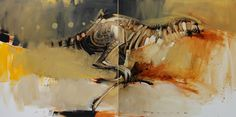 Peter Pharoah - Speed, diptych, oil on canvas