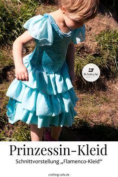 Elsa Kleid nähen - Eiskönigin Kostüm selber machen mit diesem wundervollen Schnittmuster für ein Kinderkleid! Chiffon, Halloween Kostüm, Victorian, Dresses, Fashion, Elsa Dress, Sew Dress, Flamenco Dresses, Ice Princess