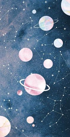 wallpaper pastel Wallpaper Zodaco e Planetas by Gocase space wallpaper Tumblr Wallpaper, Kawaii Wallpaper, Disney Wallpaper, Cartoon Wallpaper, Wallpaper Quotes, Planets Wallpaper, Wallpaper Space, Iphone Background Wallpaper, Pastel Iphone Wallpaper
