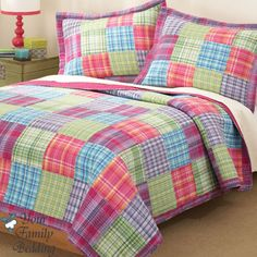 Mixed Plaids in Fun Colors