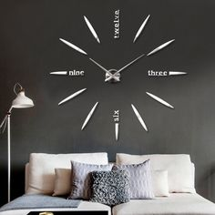 Mirrors Surface Modern DIY 3D Wall Clock Luxury Family Home Decoration New