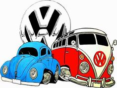 the peace van on the road limited edition art print by b wise papers minted Cartoon Car Drawing, Car Drawings, Cartoon Art, Volkswagen Bus, Volkswagen Transporter, Kombi Hippie, Car Animation, Combi Wv, Caricature