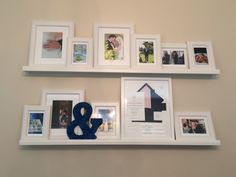 Two Picture Ledges With Framed Wedding Photos Http Www Itweddings