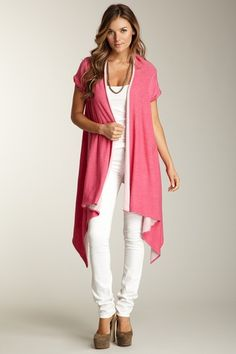 Rolled Hem Cardigan...Nice for spring...