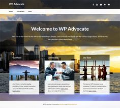 This free WordPress theme for lawyers includes RTL language support, a background image slider, a clean design, and more.