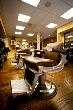 Cool shot of the Elegance Barber Chair - Frank's Barbershop-Knoxville, TN