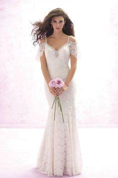 20 Flirty Cold Shoulder Wedding Dresses   HappyWedd.com
