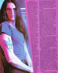 """Draven on Instagram: """"#typeonegative #petersteele My magazine scans of Live Wire from August/September 1995."""""""