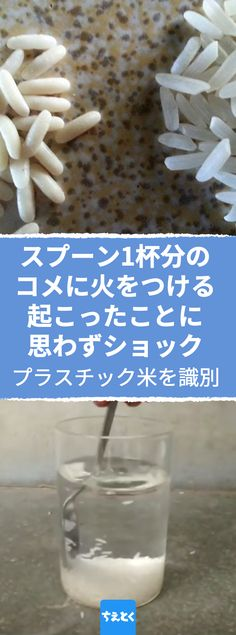 いざ実験!偽米を見つける4つの方法。 #プラスチック米 #お米 #米 #人口米 #中国米 #識別方法 #見分け方 #実験 #安全 #食の安全 #おもしろい #ご飯 #安い米 #味 #香り #白 #買ってはいけない #ちえとく