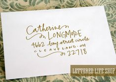 Wedding Calligraphy Envelope Addressing - Gold Modern Calligraphy - Wedding…                                                                                                                                                                                 More