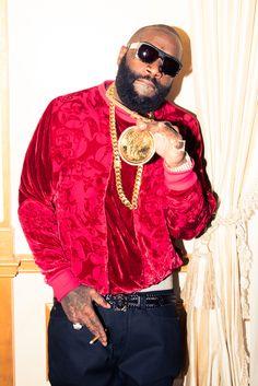 Showing off: Rick Ross gave The Coveteur a look into his huge closets Rick Ross House, Brooklyn, Beard Styles For Men, Adam Sandler, Beard Gang, Hip Hop Artists, Rapper, Celebrity Style, Celebs