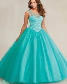 >> Click to Buy << New Fashion Ball Gown Scoop Tulle Quinceanera Dresses Sleeveless Tank Appliques Beads Lace Custom made Formal Dresses #Affiliate