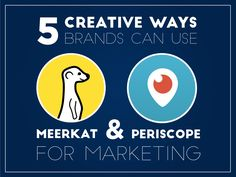 5 Creative Ways Brands Can Use Meerkat & Periscope For Marketing Infographic Business Marketing, Social Media Marketing, Online Business, Marketing Ideas, Social Networks, Content Marketing, Mobile Marketing, Digital Marketing, Social Media Art