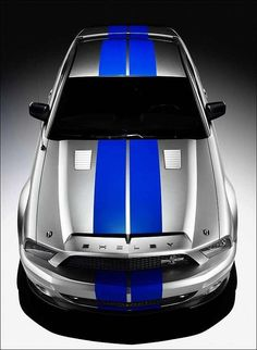 ♂ 2008 Ford Mustang Shelby Cobra GT500 silver blue
