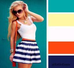 Combinamos colores con estilo. Chicas, guardamos para no perder...
