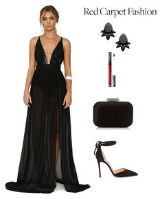 """Untitled #2173"" by meli-g35 ❤ liked on Polyvore featuring Jimmy Choo, Persy, Kat Von D, Gianvito Rossi and RedCarpet"