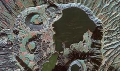 Stunning satellite image gives a glimpse INSIDE the 'lagoon of tears' in the heart of a volcano (+video)