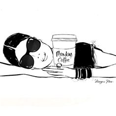 Megan Hess. Dear Monday Coffee,.........hold me!