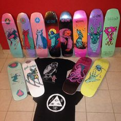 Welcome skateboards! love the shapes and graphics