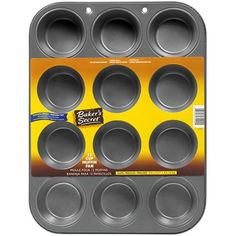 Home Basics Bakers Wave 12 Cup Muffin Tins Pan Mini Muffin Pan, Muffin Tins, Single Serve Meals, Popover Pan, Best Dishwasher, Cupcake Pans, Kitchen Necessities, Mini Muffins