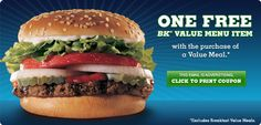 Save with 61 best Burger King printable coupons february 2016 and promo codes. Save big on burgers and fries. Today's top deal: $30 off. get more info : http://www.website-coupons.com/2015/12/burger-king-coupons.html