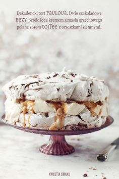 Decadent chocolate Pavlova with peanut butter cream