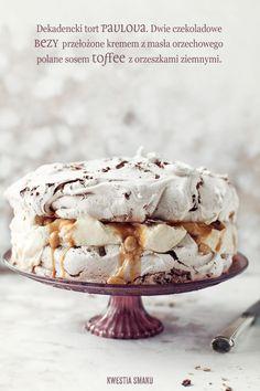Decadent chocolate Pavlova with peanut butter cream