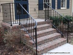 Front porch with wrought iron railings google search for Porch durham
