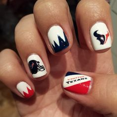 My Houston Texans manicure 2014