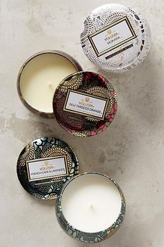 Love the tins! Voluspa Limited Edition Japonica Mini Candle Set #anthropologie #anthrofave #anthrohome #candle #candles #gifts #ad